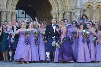Purple Wedding Decorations on Found This Picture Of An Actual Wedding Where The Bride Wore Wings